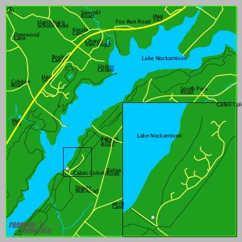 Campsite Map - NOCKAMIXON STATE PARK, PA - Pennsylvania